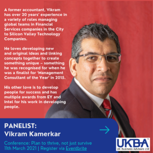 Vikram Kamerkar, UK Business Advisors - Plan to thrive, not just survive